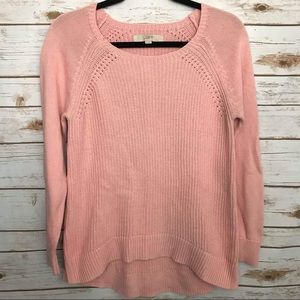 Loft Cable Knit Sweater with Slits on the sides M